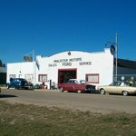 Our main museum--a 1930's North Star garage.