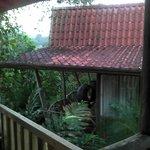 Blick vom Restaurant auf Hütte Nr.:4