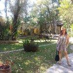 Una fresca tarde en los jardines de la Hacienda