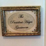 Door to President Hayes Guestroom