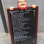Menu signboard on via Cavour