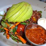 Roasted quinoa and avocado