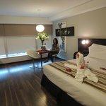 Habitación doble con cama extra grande (Solicitada y ofrecida sin costo adicional)