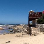 Strandbar und Ebbe am Kleinmondbeach