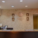 Inviting front desk reception
