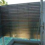 Water Villa, outdoor shower