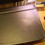 Burnt iron mark