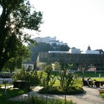 Il giardino con vista della Rocca di Salisburgo