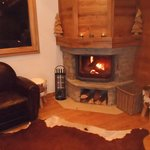 Returning from the slopes to a log fire!