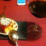 Sobremesa e vinho sugeridos pelo chef…uma delicia