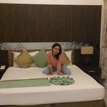 Härlig säng i fint rum