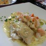 Filet de perroquet et crevettes. ..