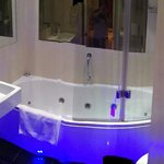 Beautifully appointed bathroom with jacuzzi tub!