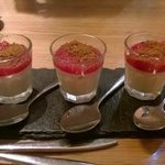 Panna Cotta with Rhubarb and Ginger topping
