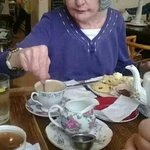 Grandma and her cream tea