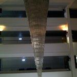 Люстра на три этажа