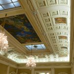 very high ceilings with beautifull paintings