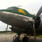 The DC-3 outside the museum. They say Grace Kelly flew in this airplane.