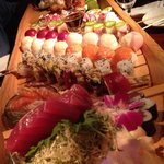 That's a sushi boat! Wow!