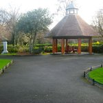 Bandstand at centre of the green.