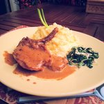 Pork chop with mashed potatoes