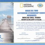 National Geographic GeoTourism Award 2014 - Bocas del Toro Restaurant & Bar