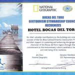 National Geographic GeoTourism Award 2014 - Hotel Bocas del Toro