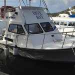 One of the Dive BVI boats at their Virgin Gorda HQ