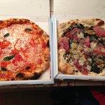 Left: Pizza Peperoni. Right: Pizza Tartufata