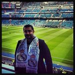 Rabih Massaad inside the stadium Santiago Bernabeu before Real Madrid vs Valencia