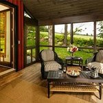 Vacation home rental screened porch