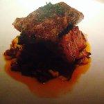 Seared iberico pork