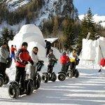 Sculpture sur neige à Valloire visite en Segway