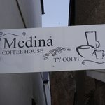 Medina Coffee Shop Sign