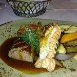 Main course, lamb & langoustine