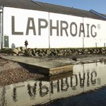 The Laphroaig Distillery on a beautiful day