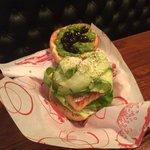 Salmon & Pesto Burger