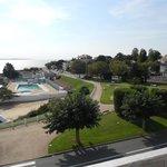 vue sur la piscine de Foncillon