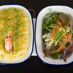 Eastcoast Fish pie with smoke salmon & fennel salad