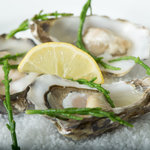 Lindasfarne Oysters with marsh samphire