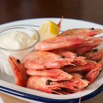 Shell on Atlantic Prawns with Lemon and Mayonaise