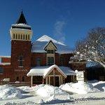 Winter shot of the exterior of the Gravenhurst Opera House