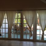 Doors to the patio