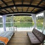 Interior cabaña flotante