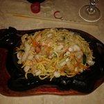 Spaghetti ai frutti di mare alla piastra