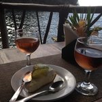 key lime pie and rose' wine...