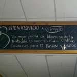 mensaje del restaurant
