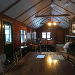 Pine Cabin living/dining room
