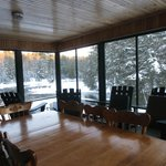 Pine Cabin screened-in porch
