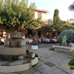Greek night Old Hersonissos.Lots of restaurants around the square